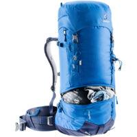 a hátizsák belső tartalmához gyors hozzáférést biztosító alsó és oldalsó cipzárak