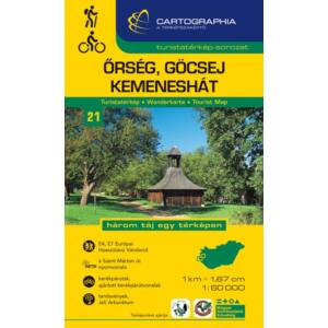 Cartographia Őrség, Göcsej, Kemeneshát turistatérkép