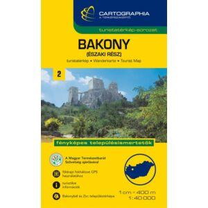 Cartographia Bakony (északi rész) turistatérkép