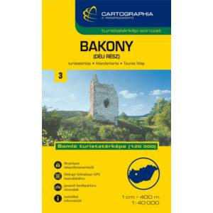 Cartographia Bakony (déli rész) turistatérkép