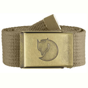 Fjallraven Canvas Brass Belt 4 cm sand