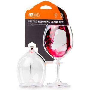 GSI Outdoors Nesting Red Wine Glass 445 ml műanyag borospohár szett