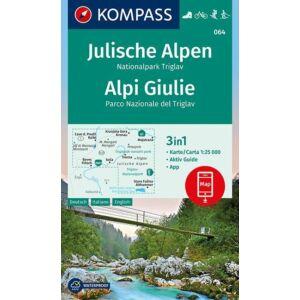 Kompass Júliai Alpok - Triglav turistatérkép