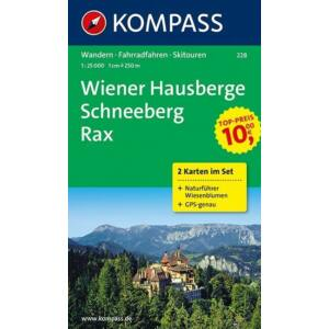 Kompass Wiener Hausberge - Schneeberg - Rax turistatérkép