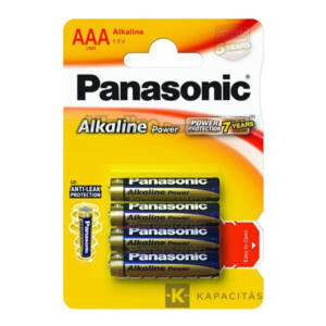 Panasonic Alkaline Power 4 db AAA 1.5V alkáli elem