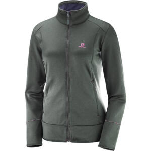 Salomon W Discovery FZ női polár pulóver - urban chic heather