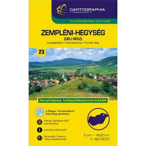 Cartographia Zempléni-hegység Dél