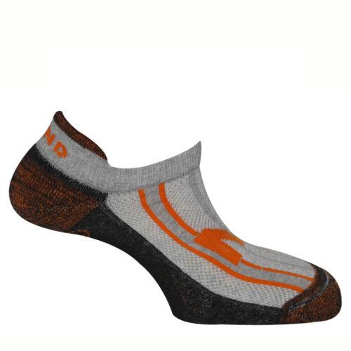 Mund Invisible Running unisex futózokni - grey/black/orange