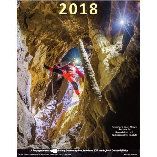 Szent Özséb Barlangkutató Egyesület 2018-as falinaptára